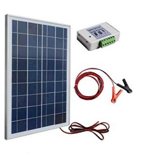 kit complet solaire 12 volt 50 w avec panneau solaire et batterie 30 ah pour cam ra surveillance. Black Bedroom Furniture Sets. Home Design Ideas